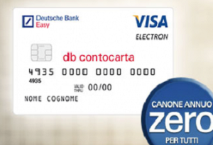 carta credito deutsche bank