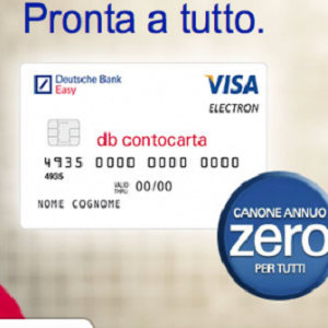 carta credito deutsche bank