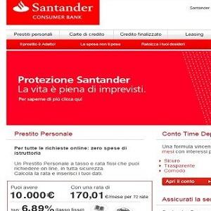 santander prestiti